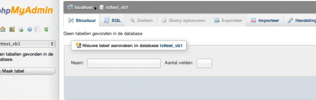 Database Beheer In PhpMyAdmin