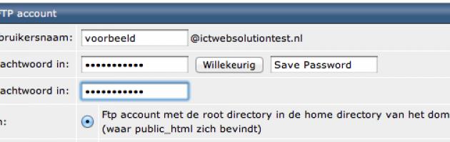 FTP-Account Aanmaken