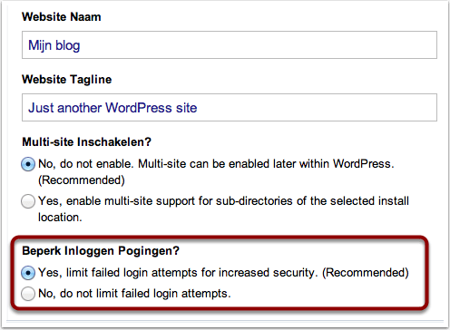 Wordpress - Limit Failed Login Attempts