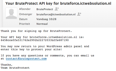 Wordpress BruteProtect Plugin installatie 10