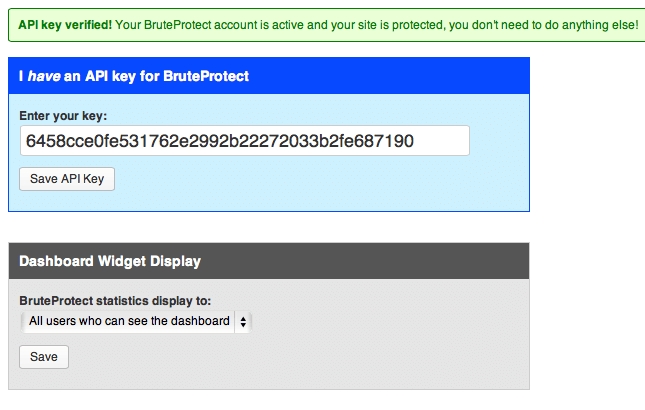 Wordpress BruteProtect Plugin installatie 12
