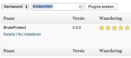 Wordpress BruteProtect Plugin installatie 4