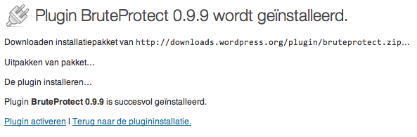 Wordpress BruteProtect Plugin installatie 6