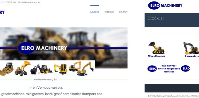 Nieuwe Website ELRO Machinery