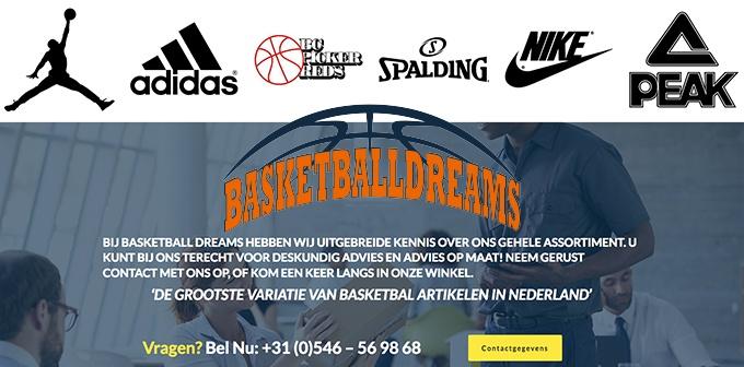Nieuwe Website Basketballdreams.nl Online