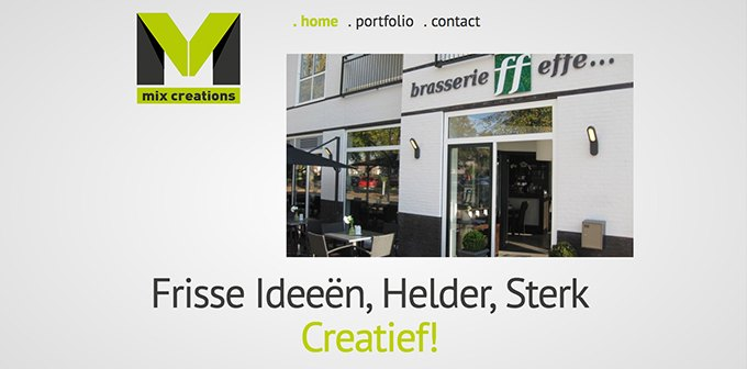 Nieuwe Website Mix Creations Online