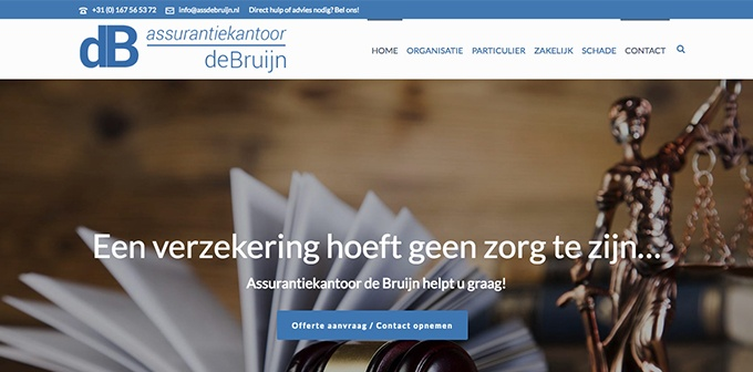 Nieuwe Website DeBruijn Assurantiekantoor